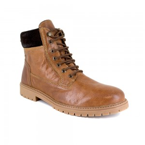 Mens Low Boots J.Bradford Cognac Leather JB-EAST