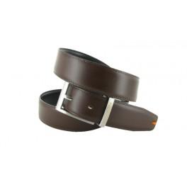 Cinturon Peter Blade Cuero Reversible Negro y Marron LUNDY