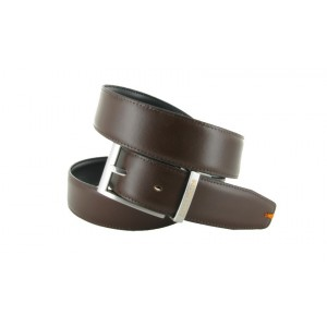 Belt Peter Blade Black and Brown Reversible Leather LUNDY