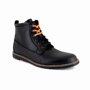 Bottine Peter Blade Cuir Noir PACHUCA