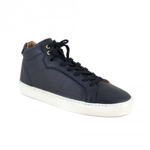 Basket Peter Blade Cuir Bleu CANCUN