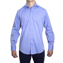 Peter Blade Camisas Hombre Liso Algodón Alex Azul