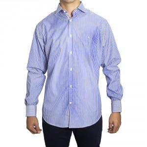 Camisa PETER BLADE Tejido Azul y Blanco DAVID