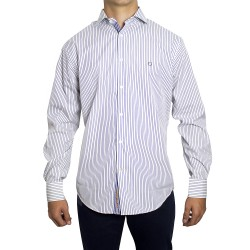 Shirt PETER BLADE White and Navy Blue Fabric DAVID