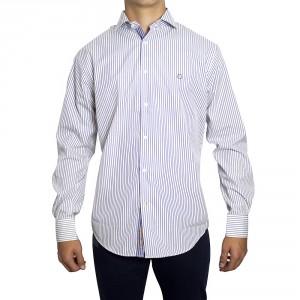 Camisa PETER BLADE Tejido Blanc y Azul DAVID