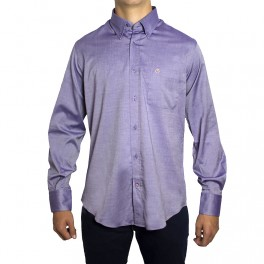 Peter Blade Aldea-vip Camisas Hombre Lisa Algodón Arthur Violeta