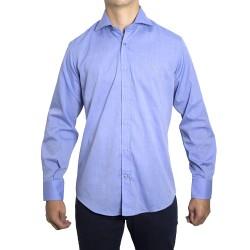 Peter Blade Aldea-vip Camisas Hombre Lisa Algodón Andy Azul